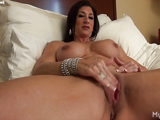Hot Italian Plays With Her Broad in the beam Clit