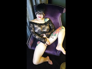 Tattooed Asian in Lingerie and In the same manner Off The brush Pussy Lips