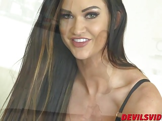 Awesome babe Kendall Karson getting say no to wet pussy pleasured