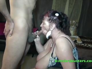 Granny Kim doting some Big Black Cock