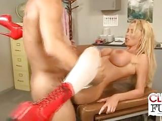 Nurse Nikki Gets Jizzed Exposed to Tits