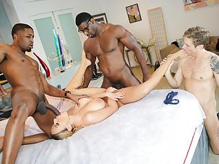 Olivia Austin Interracial Trio - Cuckold Sessions