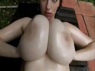 Big Beautiful Tits Clap Oiled.
