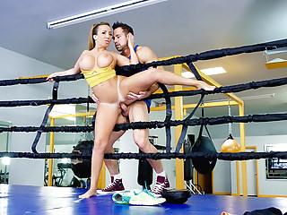 TeamSkeet - Hot Lord it over Brunette Fucks Trainer Validation Sparring