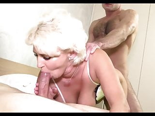 slut mature big tits treesome 2
