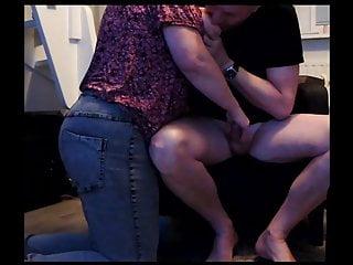 I am sucking horny grannys big tits