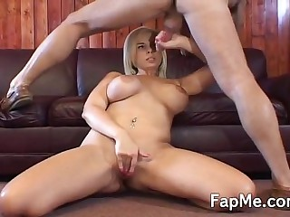 Big tit girl is addicted all round a big cock