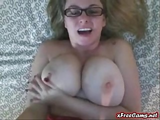PoV big titty babe talks abusive on will not hear of webcam
