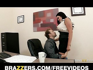 Big-tit office MILF Mackenzee Pierce takes two cocks going forward