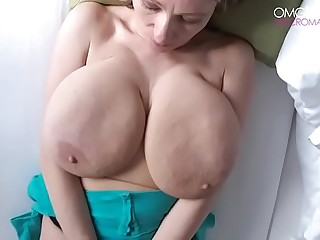 Milf playing with big tits 2