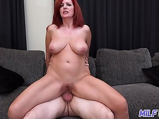 MILFTRIP Big Tit Redhead MILF Creams On Big Unearth Well-head Of Youth