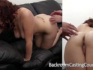 Fat Tit Amateur Painful First Anal on Casting Couch