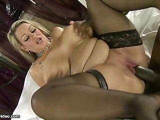 Obscene British Big Tit MILF Sucks Big Black Cock