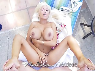 PUREMATURE Summer fling with BIG TIT step mom