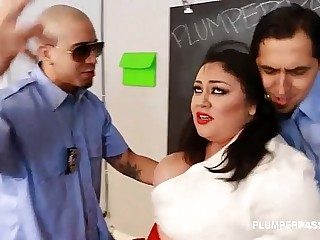Slut Big Boob Student Julia Sands Folded Teamed by Teachers