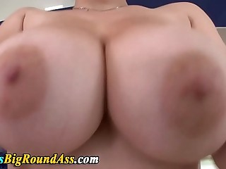 Chubby titted babe shows off