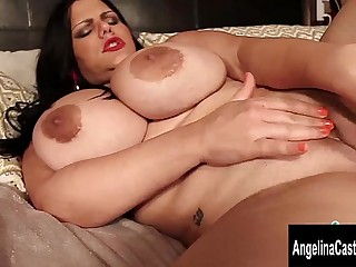 Big Tit Cuban Angelina Castro Fingers Her Wet Pussy!