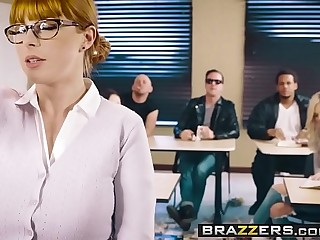 Brazzers - Big Interior at School -  The Substitute Slut scene vice-chancellor Penny Pax and Jessy Jones