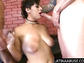 18 realm old with big tits throated