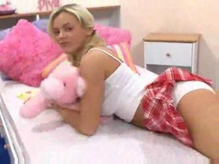 Schoolgirl in pigtails having hot hard sex