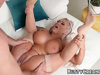 MILF with huge tits gets drilled hard