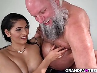 Hot busty babe Ava Black fucks with a  DOM
