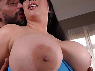 Going Impenetrable depths - Busty Horny Housewife Fucked By Two Studs