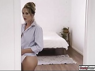 Busty kirmess acquiring fucked hard by her tattooed plumber