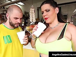 Big Bed basically Cuban Angelina Castro is unaffected by a date with a BBW fan who's horny lasting cock pounds her plump pussy almost every which way, ending with a huge load of cum unaffected by her massive tits!