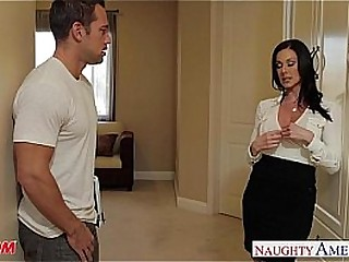 Busty mature unsubtle fucked and eats cum