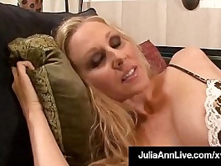 Grown-up Milf Julia Ann wraps their way lips around a eternal cock, is fucked doggy style, booby banged & takes a huge gravamen of jizz on their way big busty chest!