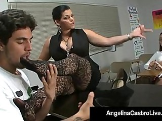 Huge Titted Cuban Export AngelinaCastro, Plays Teacher & Orders Her Student RoxanneRae to Give A Foot Job lose one's train of thought ends with a Load Be required of Cum! Full Video & AngelinaCastro Live @AngelinaCastroLive.com