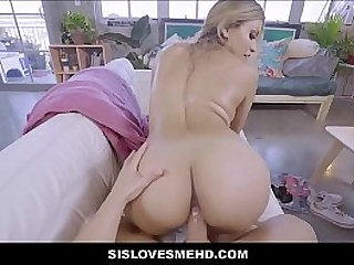 Hot Young Teen Latina Stepsister With A Beamy Ass And Huge Tits Fucked POV