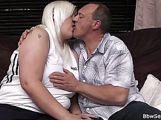 Cheating sex with busty blonde woman