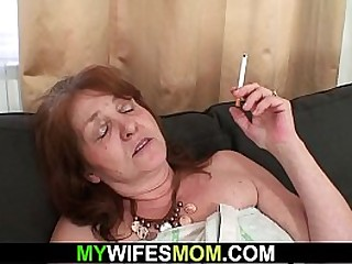 Busty old mammy in dissimulate taboo sex