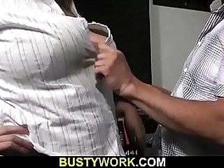 Busty bitch loves his cock