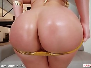 Hot Busty Chick covered in Oil DP'd