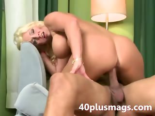 Milf possessions nailed wide of a young hung
