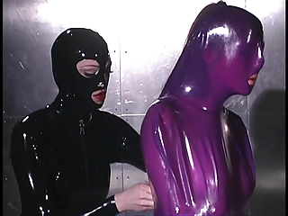 Purple latex duteous whipped on cabinet