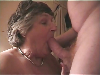 Beamy Breasted Granny Norma Loves To Ride A Hard Cock