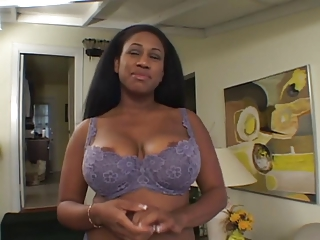 Funereal chick with huge tits and nipples sucks on wan dick